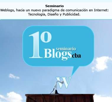 Primer Seminario de Weblogs en Córdoba